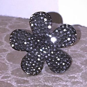 Jewelry - Adjustable Studded Flower Ring
